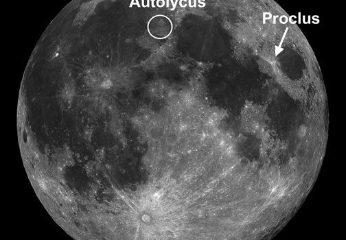Moon Craters Proclus and Aristillus