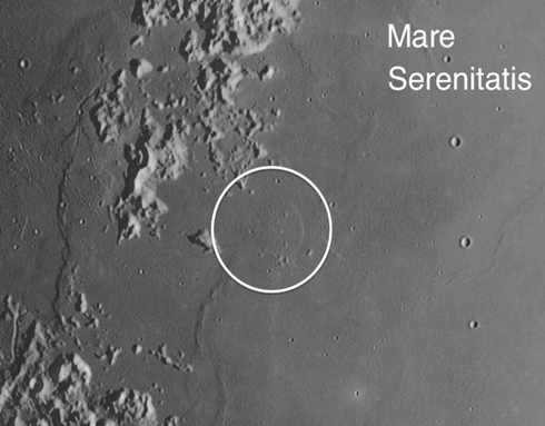Mare Serenitatis on the moon
