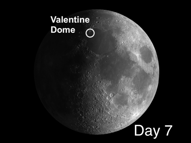 Valentine Dome on the moon