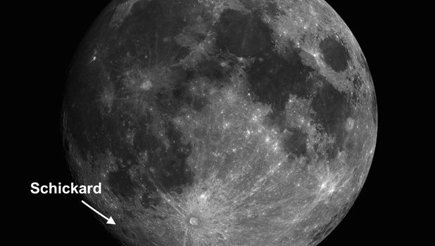Moon Crater Schickard and Two Space Incidents in January