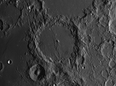 Moon Crater Alphonsus: Central Peak and a Floor that Displays Rilles and Small Craters