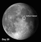 Julius Caesar on the moon