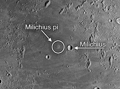 Milichius is one of the more significant domes on the Moon
