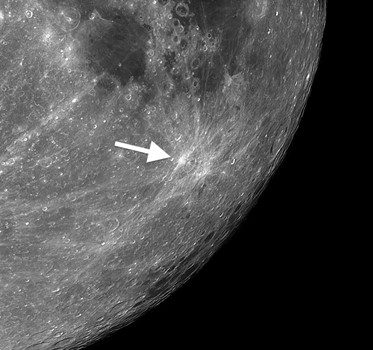 Furnerius A: Tiny Moon Crater That Can Splash its Debris Over Nearly Half of the Moon's Surface