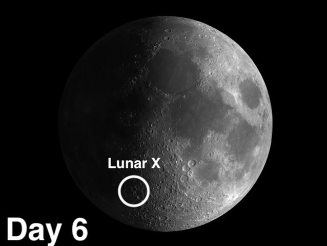 Lunar X on moon