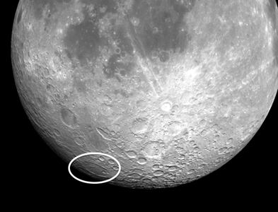 moon crater Bailly