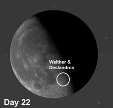 Moon Crater Walther and Moon Crater Deslandres