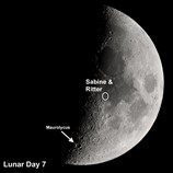 moon craters sabine and ritter