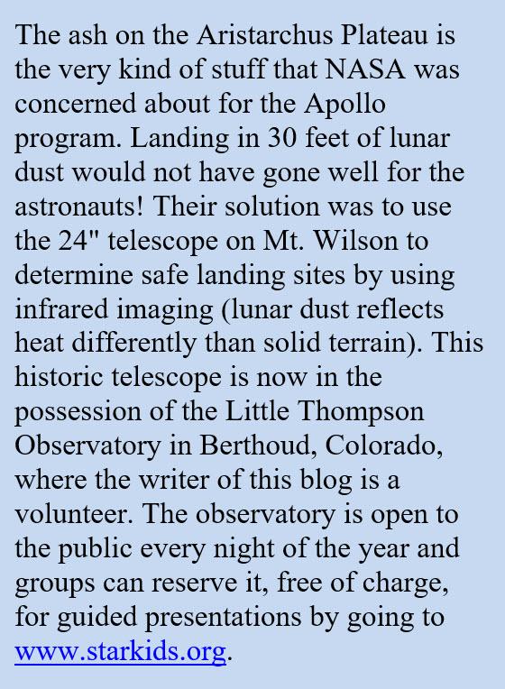 Aristarchus Plateau and ash
