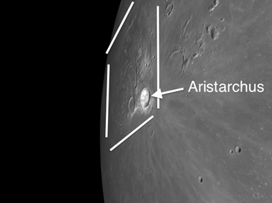 Moon Crater Aristarchus: Brightest Spot on the Moon