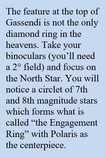 Gassendi moon crater the engagement ring
