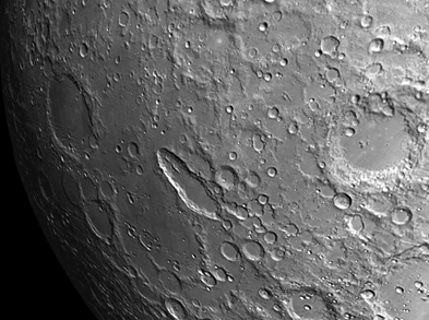 southwest of moon crater Schiller is an unnamed basin