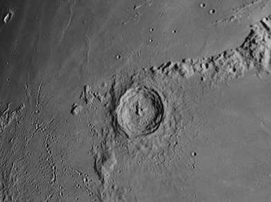 Eratosthenes crater on the moon