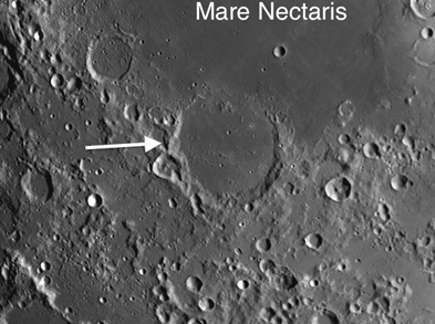 Moon Crater Fracastorius: One of the Best Examples of Subsidence