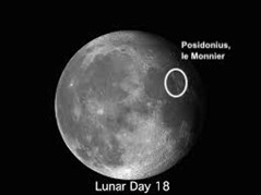 Moon craters Posidonius and le Monnier