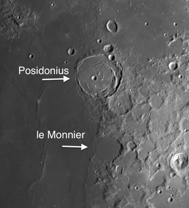 two moon craters on Mare Serenitatis