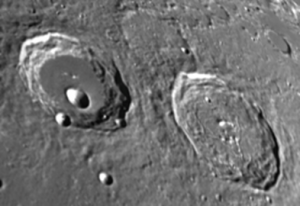 Atlas and Hercules have blankets of surrounding ejecta